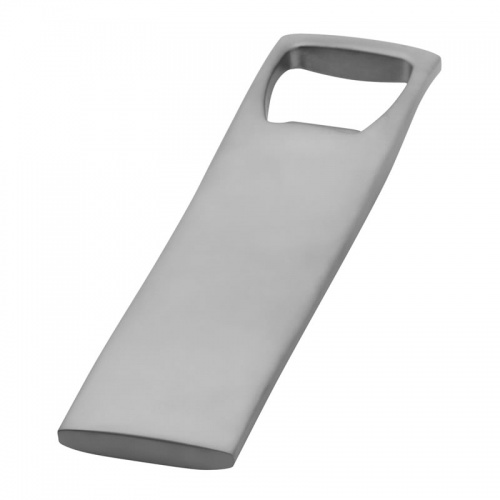 Engraved Silver Plated Flat Bottle Opener