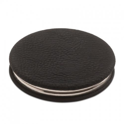 Miroir compact pliant personnalisé avec revêtement en cuir