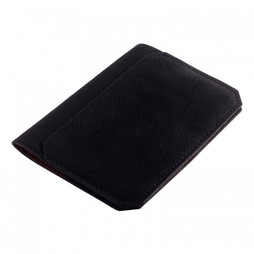 Black PU Leather Passport Holder