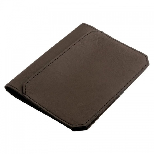 Porte-passeport en cuir PU marron
