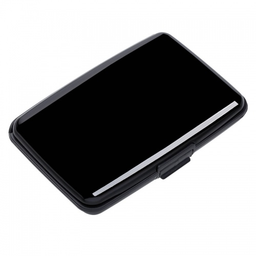 Black Aluminum Card Wallet with RFID Protection