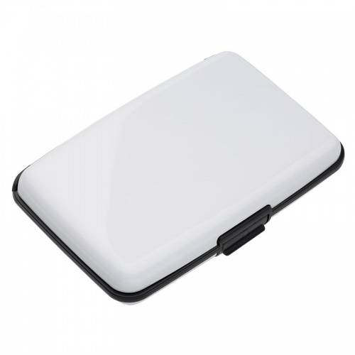 White Aluminum Card Wallet with RFID Protection
