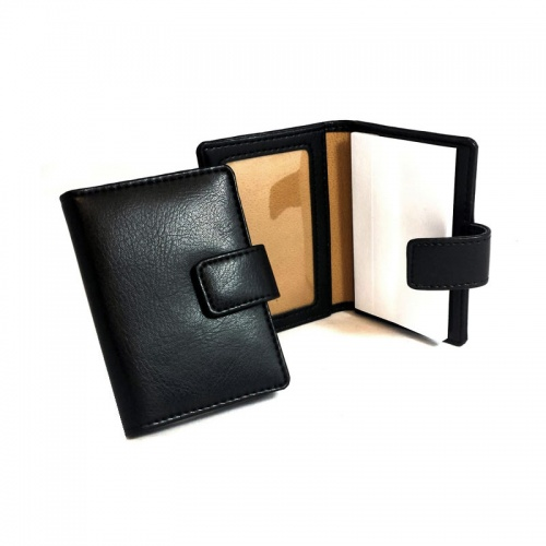 Personalised Leather Notepad with Card Holder