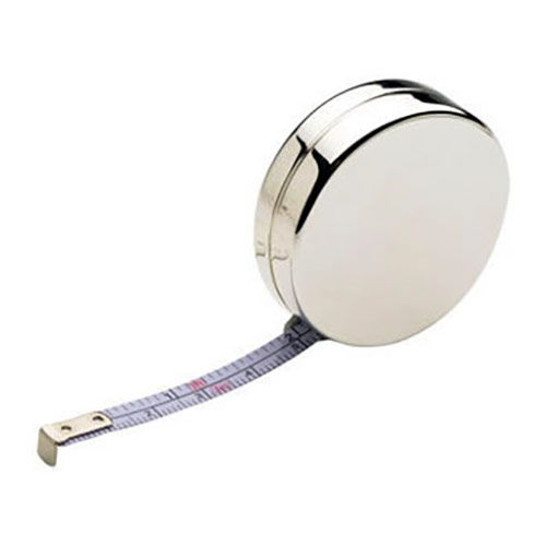 Engraved Silver Plated Tape Measure