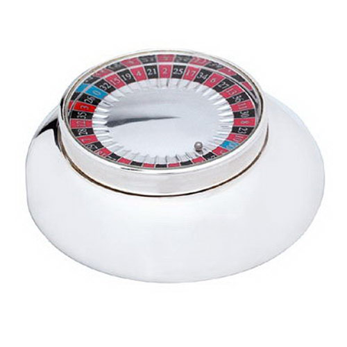Engraved Silver Plated Mini Roulette Game