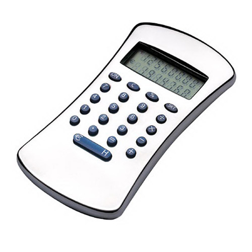 Engraved Silver Plated Calculator