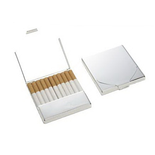 Engraved Chrome Plated Cigarette Case