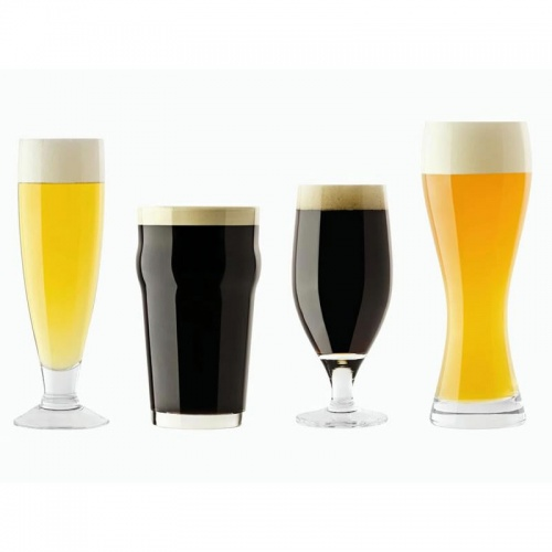 Engraved Set of Four Beer Glasses