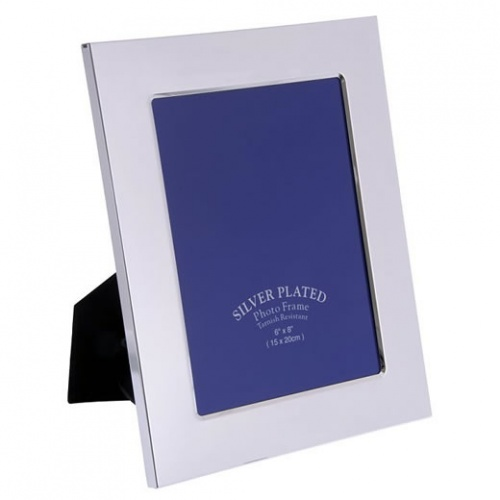 Engraved Silver Plated 6x4in Photo Frame