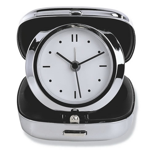 Engraved Folding Travel Alarm Clock