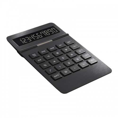 Engraved Ultra Slim Aluminum Calculator