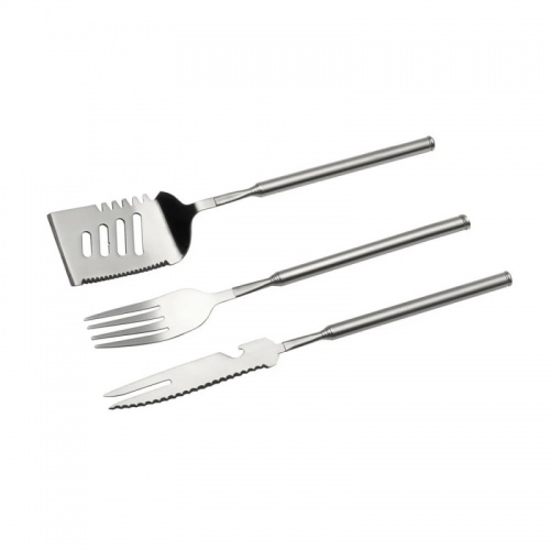 Stainless Steel 3 Piece Telescopic BBQ Set