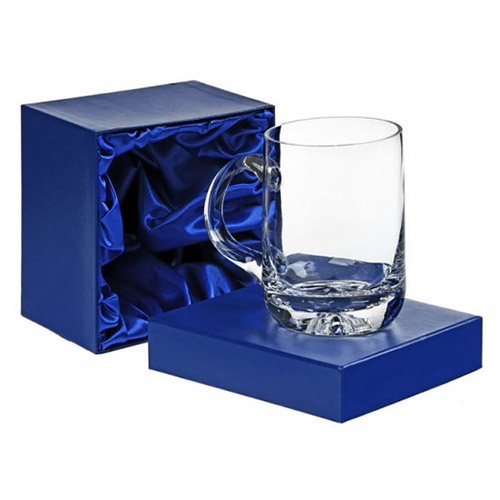 Engraved Lead Crystal Pint Tankard in Presentation Box