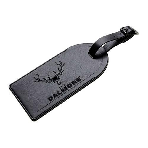 Étiquette de bagage en cuir gravée avec rabat de sécurité
