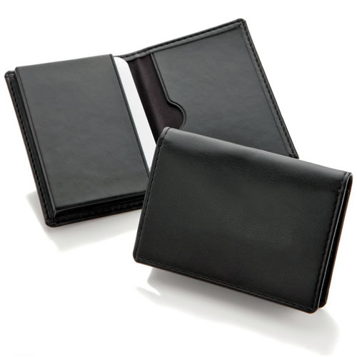 Economy Leather Business Card Dispenser