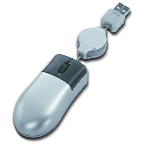 Engraved USB Retractable Mini Mouse