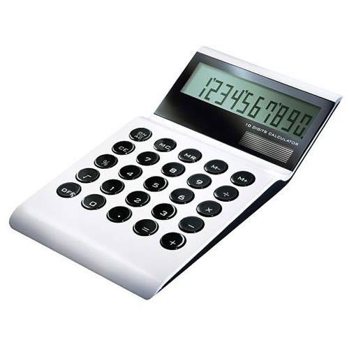 Engraved Desk Calculator in High Gloss Aluminum