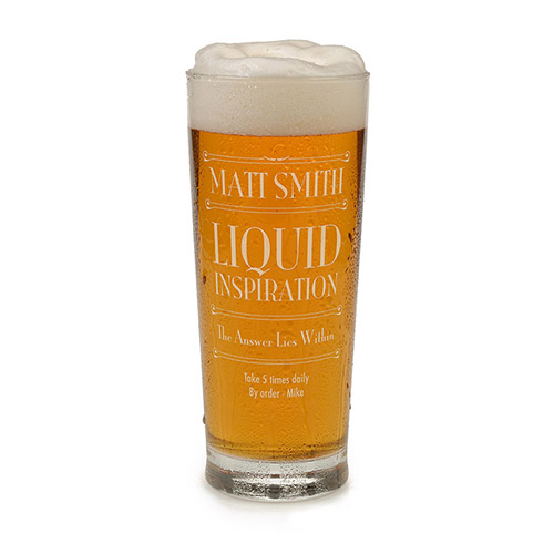 Personalised Beer Glass - Liquid Inspiration