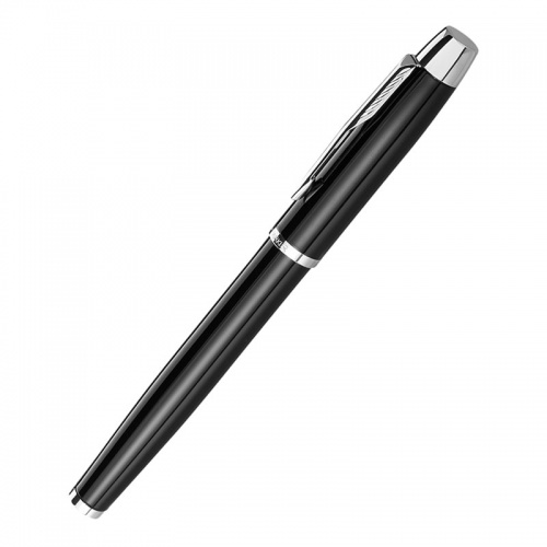 Personalised Parker IM Rollerball Black & Silver