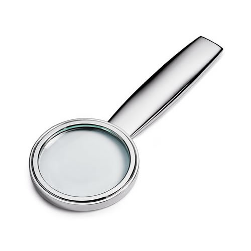 Engraved Silver Plated Magnifying Glass