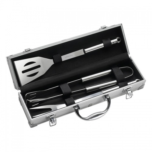 Engraved Stainless Steel BBQ Set in Carry Case