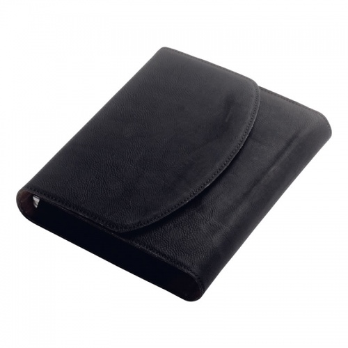 Black PU Leather Vehicle Log Book Holder
