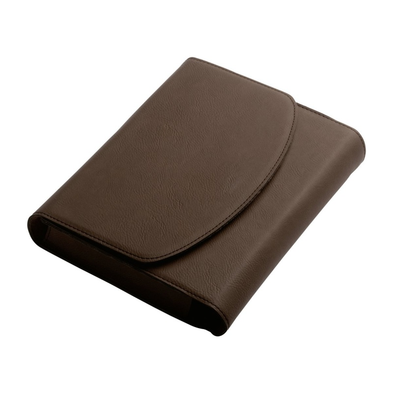 Brown PU Leather Vehicle Log Book Holder