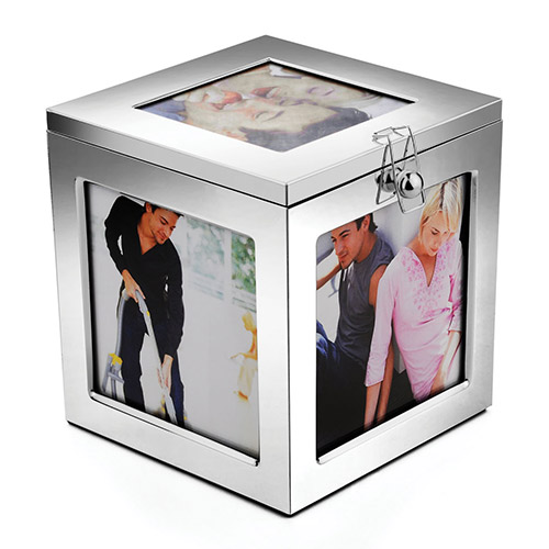 Engraved Silver Plated Photo Box
