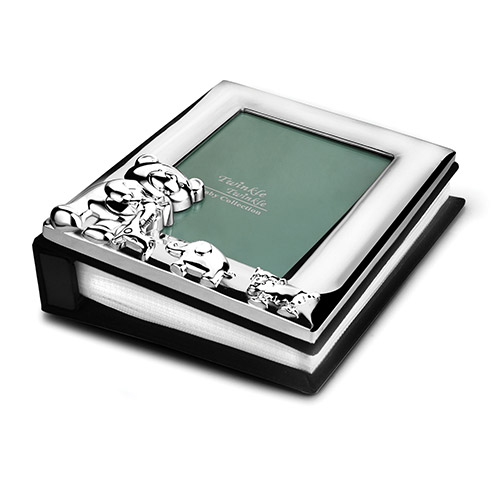 Engraved Silver Plated Bunny Baby Photo Album Business Gifts Express