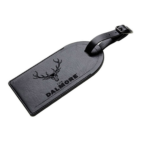 Engraved Leather Luggage Tag with Security Flap