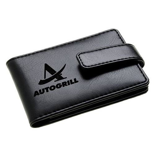 Engraved Folding Leather Card Wallet