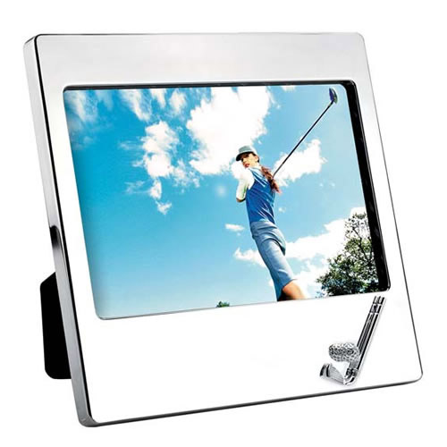 Engraved Silver Plated Landscape 5x7in Golf Photo Frame