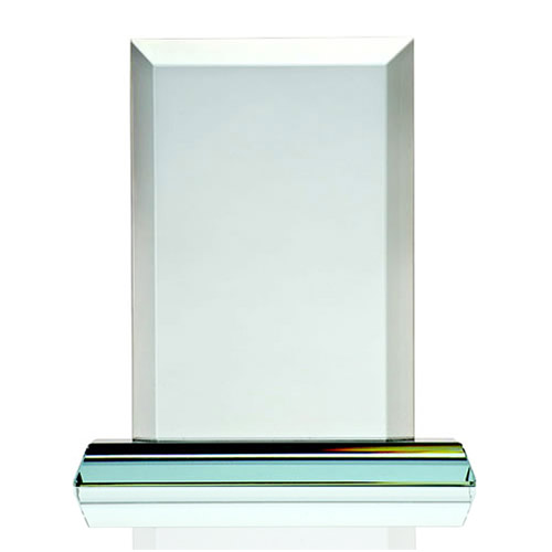 Engraved Jade Glass Rectangle Awards Plaque