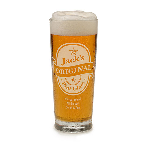 Personalised Beer Glass - Name's Original