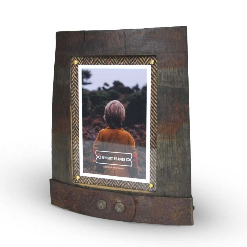 Whisky Barrel Photo Ring Frame Chime 4x6in