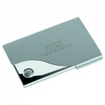 Engraved Nickel Plated Golf Business Cards Holder