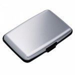 Silver Aluminum Card Wallet with RFID Protection