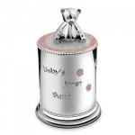 Engraved Silver Plated Baby Girl Money Bank