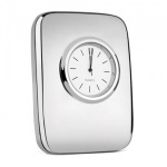 Engraved Silver Plated Tiffany Desktop Clock
