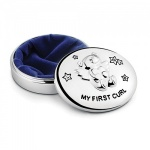 Engraved Silver Plated Baby First Curl Box