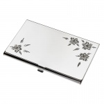 Business Cards Case with Flower Design Lid