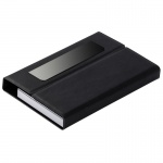 Black PU Leather Business Cards Case