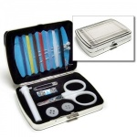 Engraved Silver Plated Travel Sewing Kit