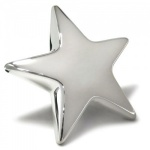 Engraved Silver Plated Star Paperweight with Box