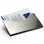 Engraved Brushed Steel Business Cards Clip