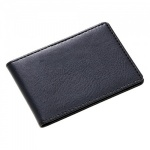 Engraved Leather Folding Card Wallet with 8 Pockets