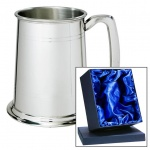 Engraved Two-Line Pewter Tankard in Presentation Box