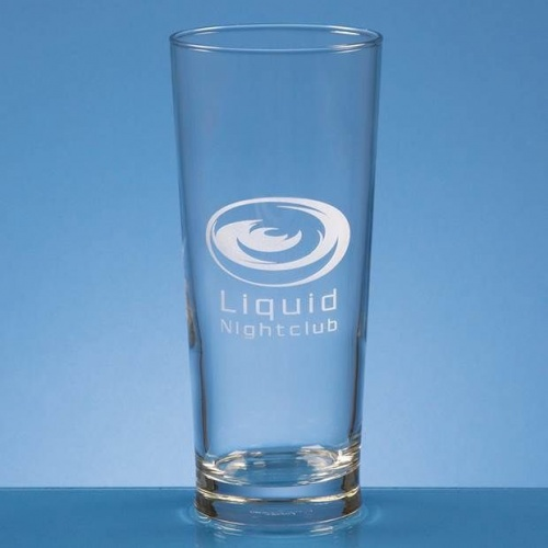 Engraved Plain Conical Pint Glass