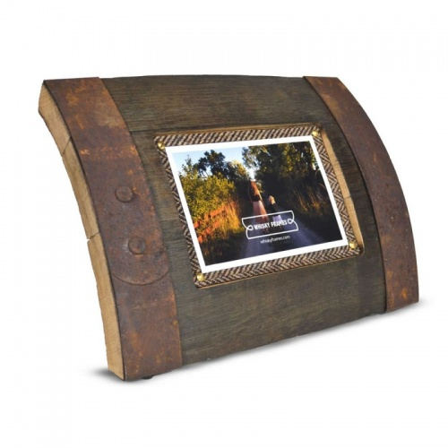 Whisky Barrel Photo Frame Bilge 6x4in